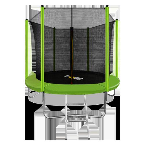 Батут Arland 8FT с внутренней страховочной сеткой и лестницей