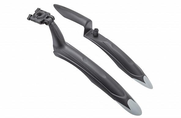 """Крылья 24""""-26"""" XGNB-039А, пластиковые, чёрно-серые, комплект"""